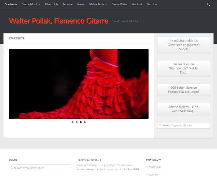Walter Pollak, Flamenco Gitarre - Musik, Texte, Malerei'