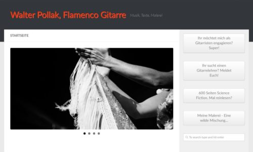 Walter Pollak, Flamenco Gitarre - Musik, Texte, Malerei