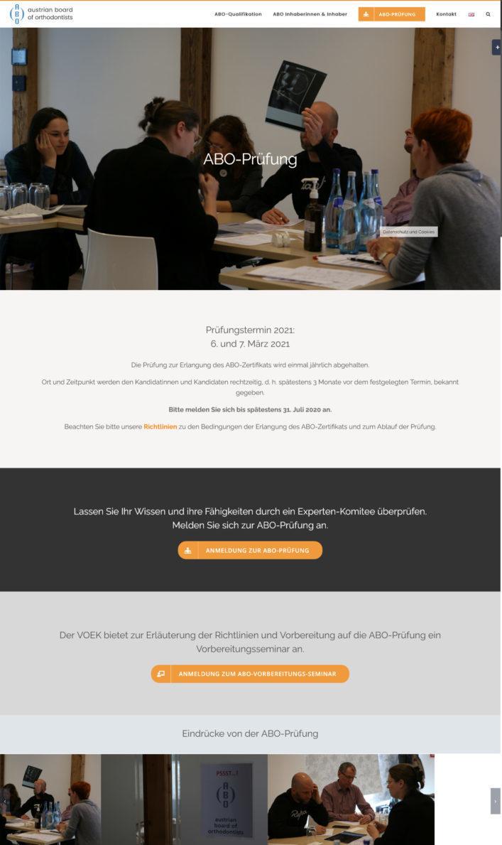 WordPress Website Wien - abo