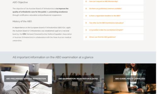WordPress Website for Austrian Board Of Orthodontists