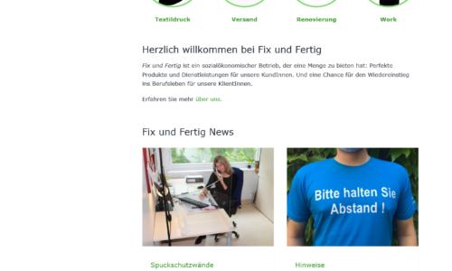 Homepage Suchthilfe Wien fixundfertig