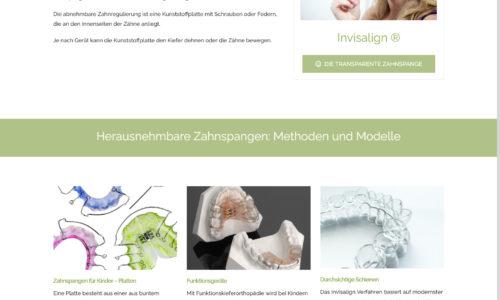 Zahnarzt Website Herausnehmbare Zahnspangen