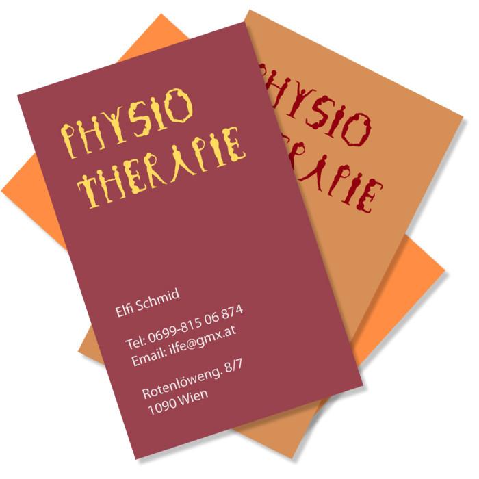 Logo & Visitenkarten Physiotherapeutin Elfi Schmid