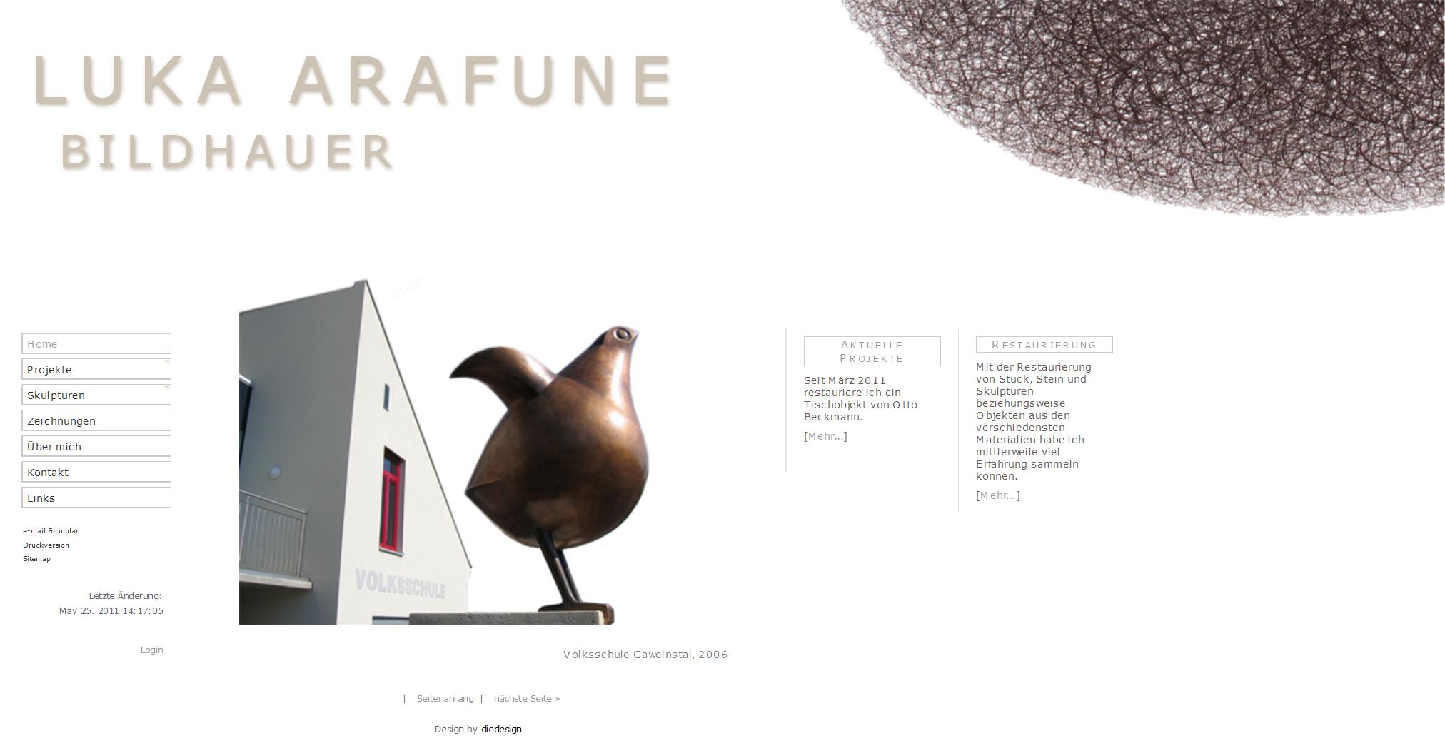 Luka Arafune, Bildhauer, Maler, Architekt. www.arafune.at