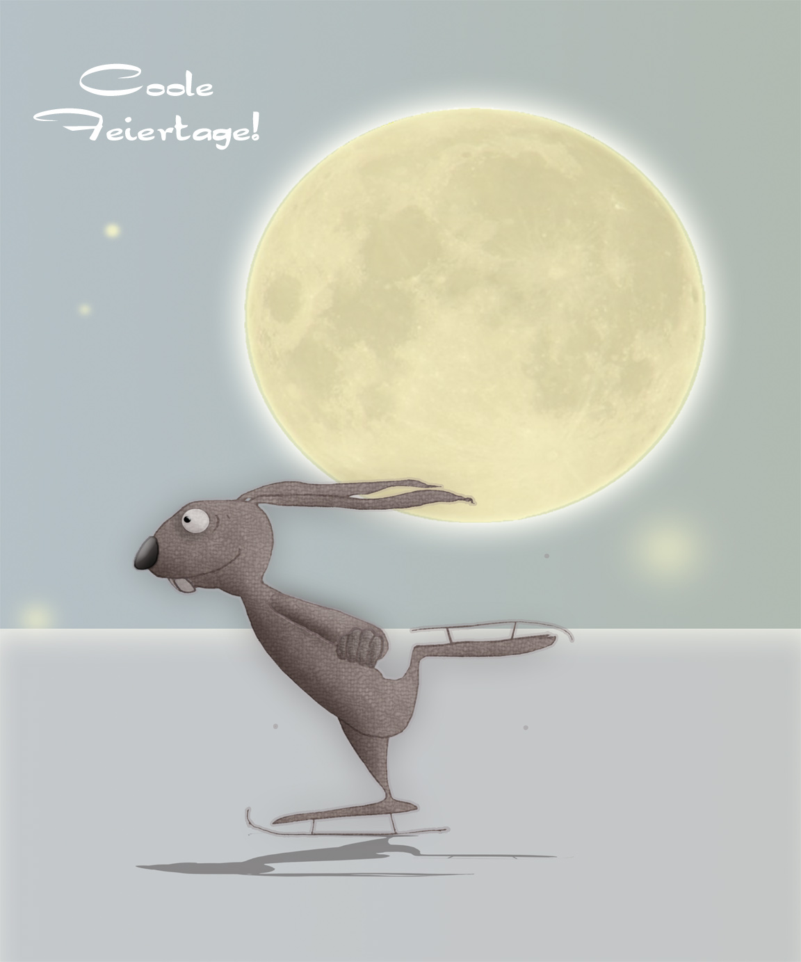 Christmas Rabbit - Weihnachtskarte