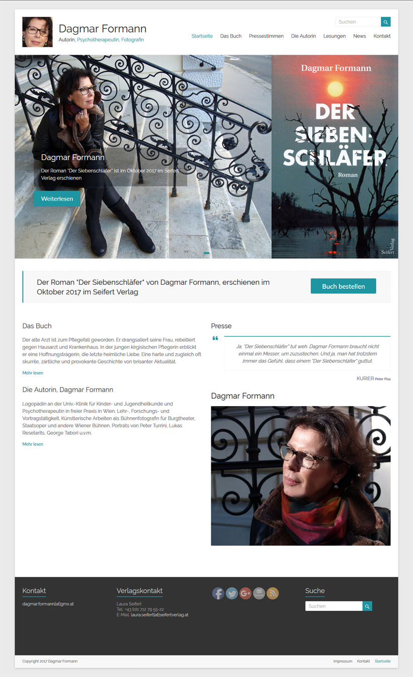 WordPress Homepage Dagmar Formann Autorin