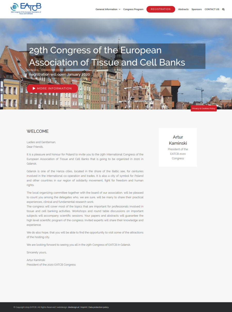 "Medical Website ""29th Congress of the European Association of Tissue and Cell Banks"""