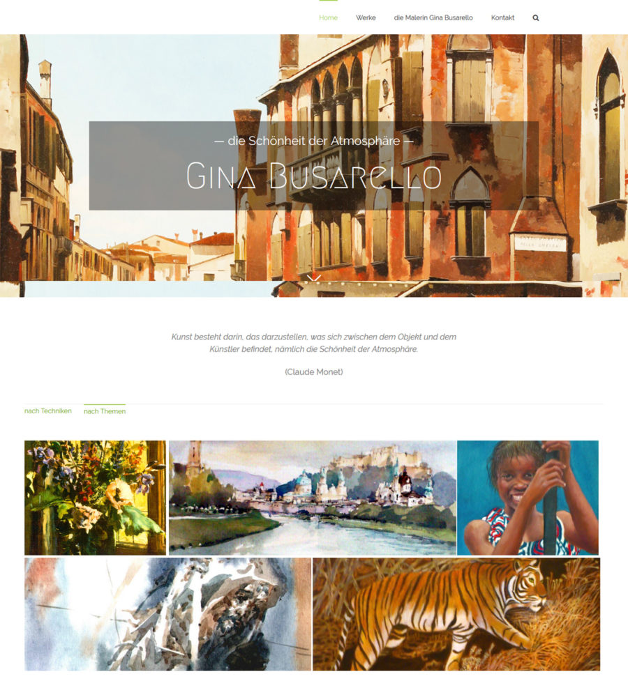 Webdesign Wien: WordPress Website für die Künstlerin G. Busarello