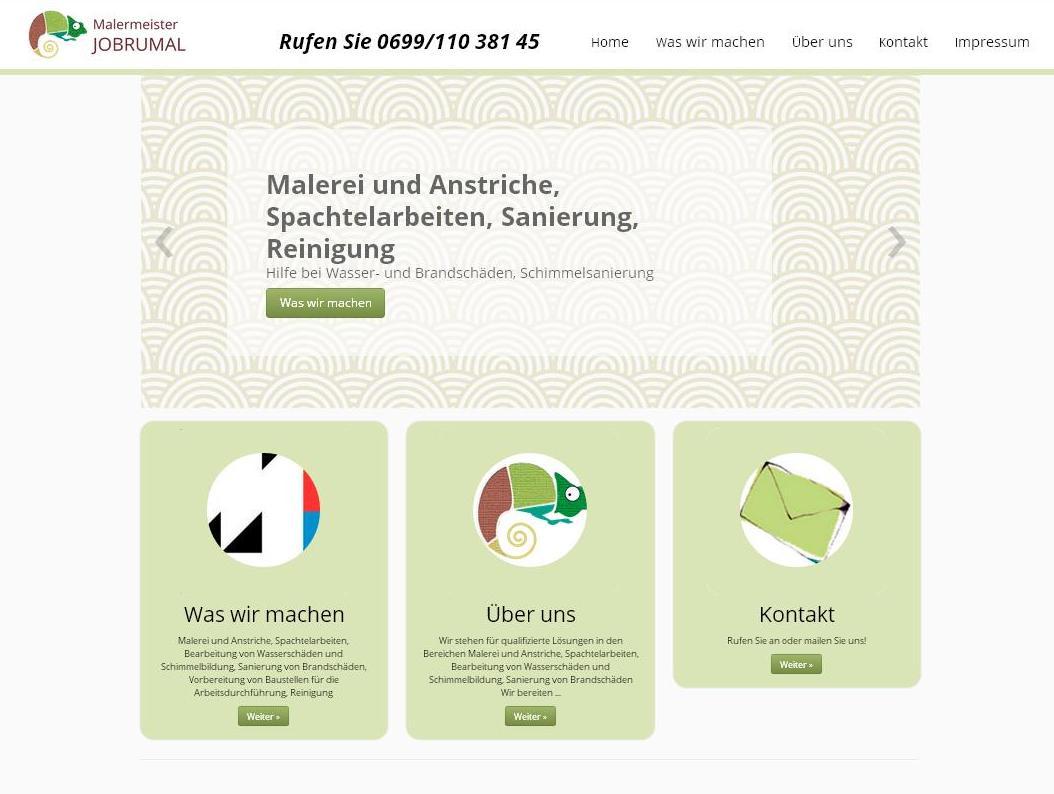Website Malermeister Jobrumal