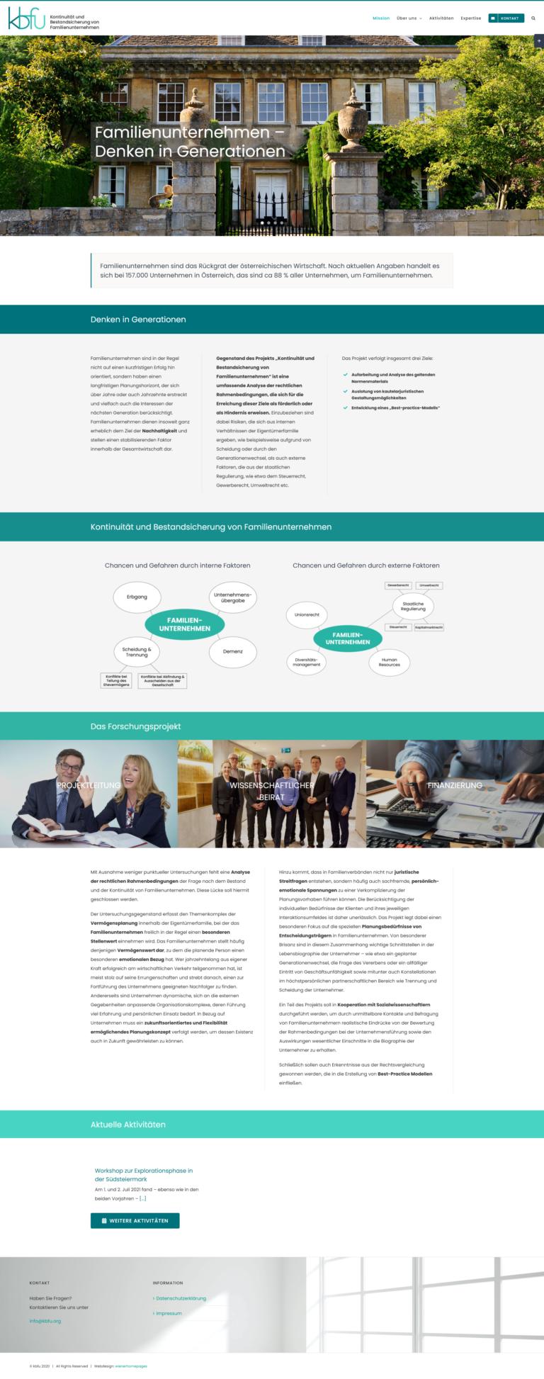 Homepage für das Forschungsprojekt kbfu
