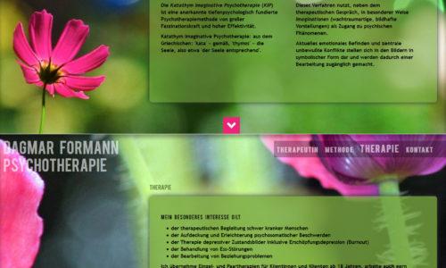 html5 und css: parallax scrolling: Psychotherapie Dagmar Formann