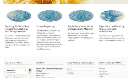 Barrierefreie Website für Beratungsstelle TAMAR
