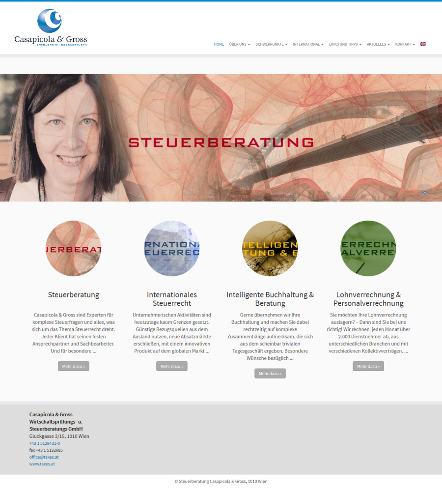 Website SteuerberaterInnen: Wordpress mehrsprachig & Newsletter