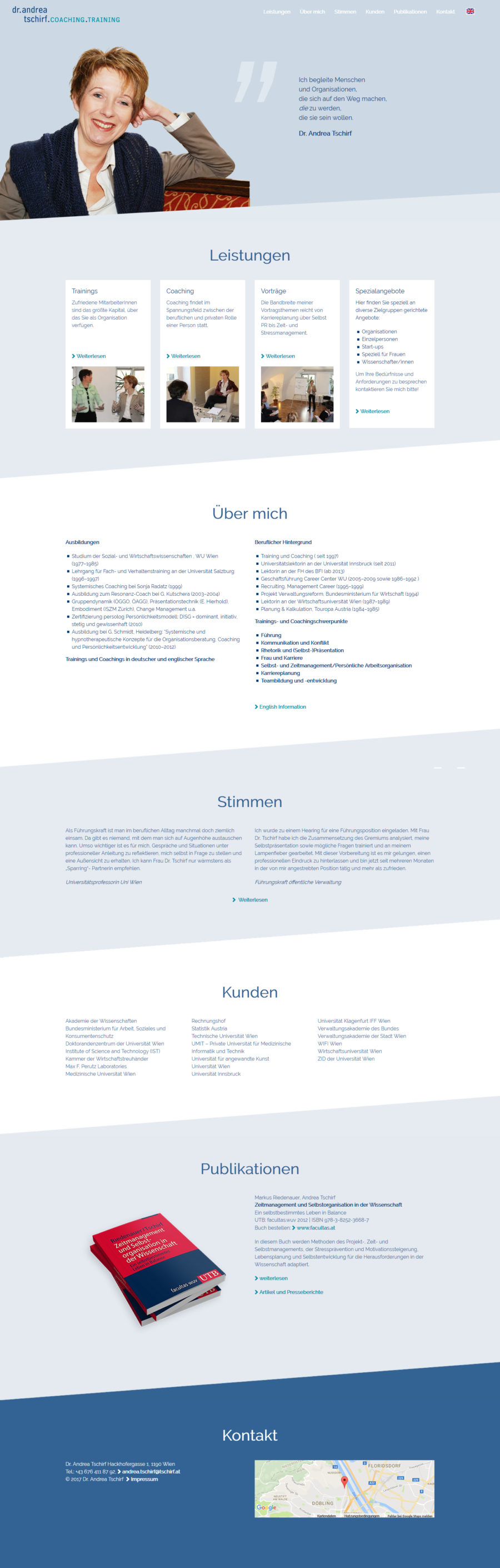 wordpress homepage wien therapeut
