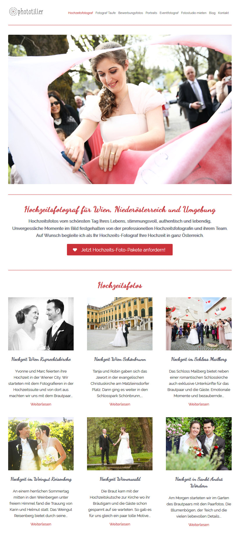 WordPress Website Fotografin