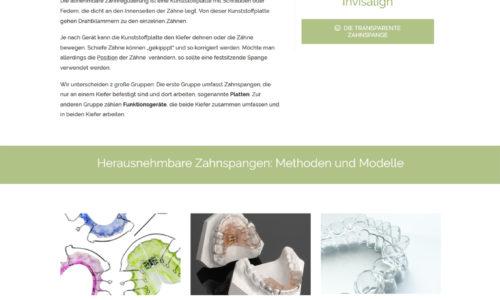 Webdesign Wien Kieferorthopädische Praxis zahnundkiefer.at